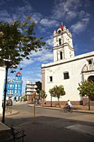 View to the Iglesia De Nuestra Senora De La Merced Church in Plaza de los Trabajadores at the historic center, Camagüey, Cuba, Central America