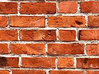 Wall with old handmade bricks in Ystad; Scania; Sweden.