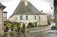 Issigeac is found to the south-east of Bergerac in the Perigord Pourpre region Aquitaine Dordogne France on December 6, 2018.