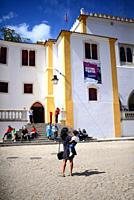 City square in Sintra, Portugal.
