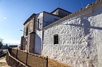 Our Lady of the Old hermitage facade in Mora on a sunny day. Toledo. Spain. Europe.