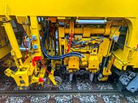 Modern Train Machinery in Switzerland.