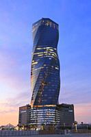 United Tower at Sunset, Manama, Bahrain.