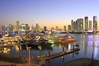 Miami at Sunset, Florida, USA.