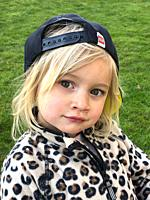 Portrait on a blond three years old girl.