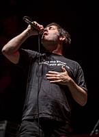 Madrid, Spain- May 14: Joey Cape from Lagwagon punk-rock band performs in concert at Wizink center on may 14,2019 in Madrid, Spain (Photo by: Angel Ma...