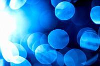 blue bubbles in back light.