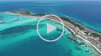 Los Roques, WATER CAY, Caribbean sea. Fantastic landscape. Aerial view of paradise island bequeve with blue water. Great caribbean beach scene. Vacati...
