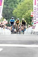 Amanda Spratt winner of the 2nd stage of UCI women cycling race Emakumeen Bira, at the Basque Country. Stage finished in Amasa, Villabona, Basque Coun...