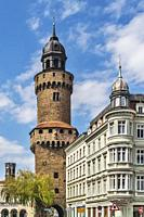 The Reichenbacher tower was built in 1376 and is 51 meters high. It was part of the city fortification and is located on Obermarkt (upper market), Goe...