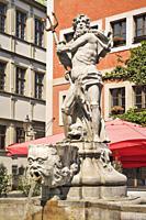 The Neptune Fountain was built in 1756 by the stonemason Johann Georg Mattausch. The fountain is located at Untermarkt (Lower Market square) in Goerli...