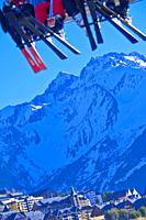Chair Lifts, Formigal Ski Resort, Ski Area, Pyrenees, Huesca, Aragón, Spain, Europe.