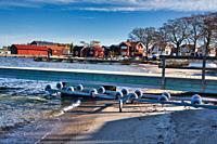 Beach in winter on the Stockholm archipelago island of Sandhamn, Sweden, Scandinavia