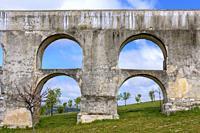 Amoreira Aqueduct, Garrison Border Town of Elvas and its Fortifications, Portalegre District, Alentejo Region, Portugal, Europe.
