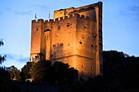castle in Crest. the drôme, france.