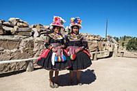 Peru, Titicaca lake, Taquile island.