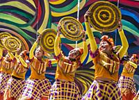 Participants in the Dinagyang Festival in Iloilo Philippines.