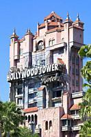 Hollywood Tower Hotel, Hollywood Tower of Terror, Hollywood Studios Disney World, Orlando Florida, USA.