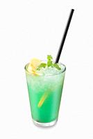 Green drink isolated on white background. For fast food restaurant design or fast food menu.