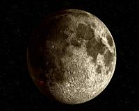 EARTH The Moon -- 2006 -- This European Space Agency artist's impression shows the location of the SMART-1 impact on the Moon surface, expected for 3 ...
