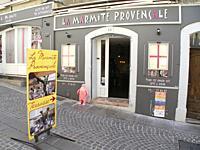 La Marmite Provencale Restaurant, Greoux les Bains, Provence, France.