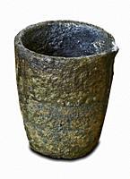 Melting pot to melt metal isolated on white background.