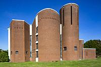 Herten, Scherlebeck, D-Herten, D-Herten-Scherlebeck, Ruhr area, Westphalia, North Rhine-Westphalia, NRW, Saint Ludgerus church, catholic church of the...