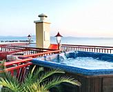 Terrace Jacuzzi With A Beautiful Sea View.