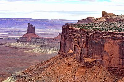 Distant Formation. Canyonlands National Park, Utah, USA.