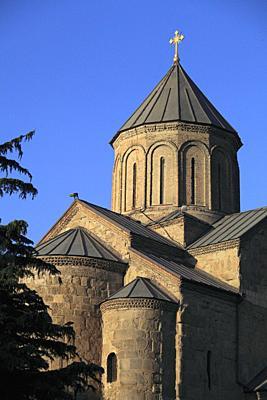 Georgia, Tbilisi, Metekhi St Virgin Church,.