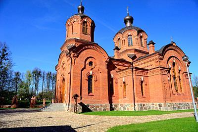 Orthodox church of Saint Nicholas, Bialowieza, Poland.