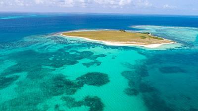DOS MOSQUICES Aerial View Archipelago Los Roques Venezuela, Atoll.