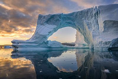 Icebergs, Greenland.