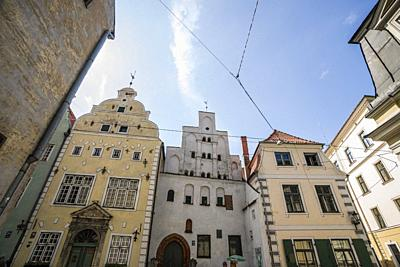 The architecture of Riga. Old Town. Riga, Latvia, Baltic States, Europe.
