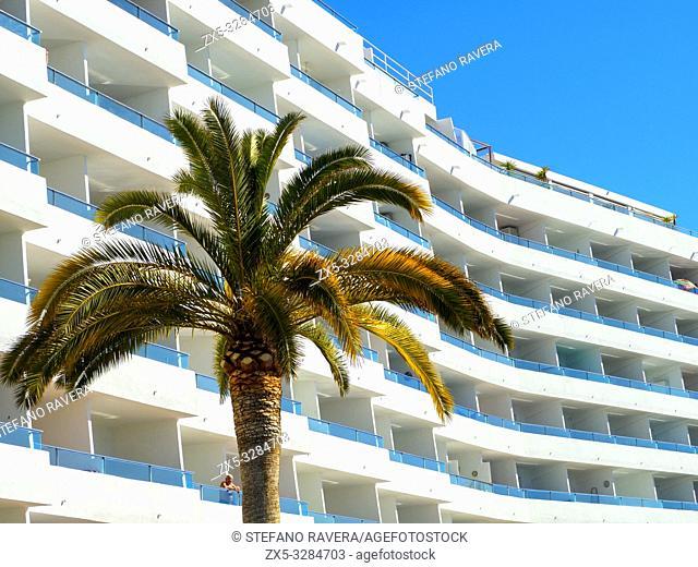 Hotel balconies in Santa Ponsa - Balearic Islands, Spain