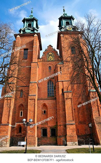 Royal Gniezno Cathedral in Gniezno, historical and royal city in Greater Poland Voivodeship