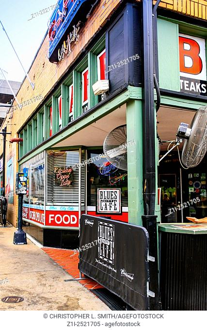 The Blues City Cafe on the corner of Beale Street in Memphis Tennessee