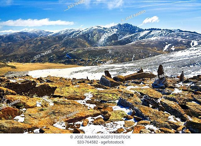 La Mira desde la fuente de los Cavadores. Sierra de Gredos. Castile-Leon. Spain