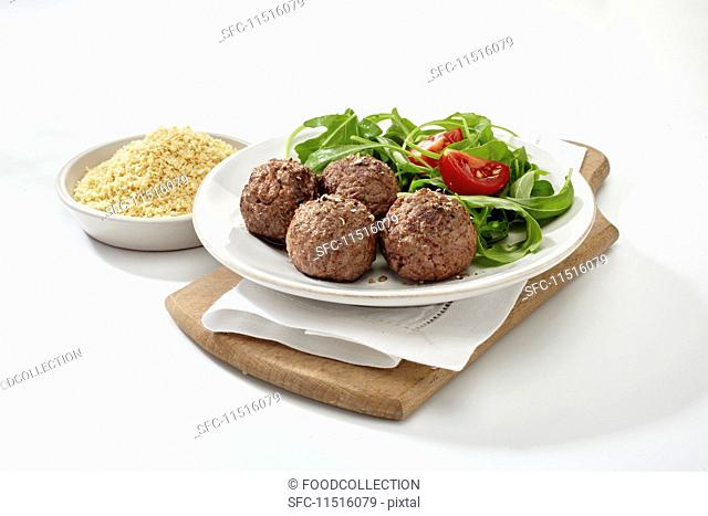 Meatballs with pea flour