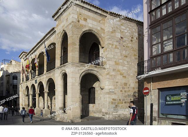 Old town hall of Zamora, Castilla y Leon. Spain on June 3, 2018