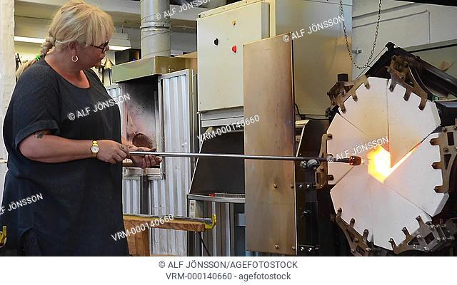 Glassblower in Bornholm, Denmark