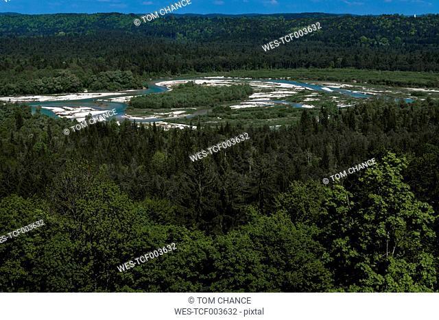 Germany, Upper Bavaria, river Isar at Pupplinger Au, Isartal