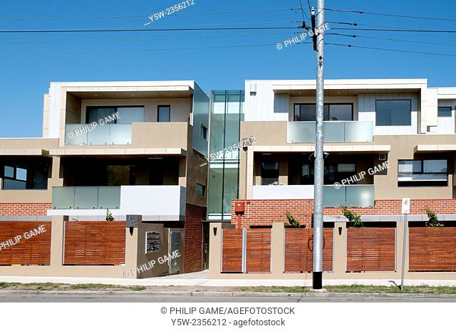 Newly-constructed apartments in Hawthorn Road, South Caulfield, Melbourne