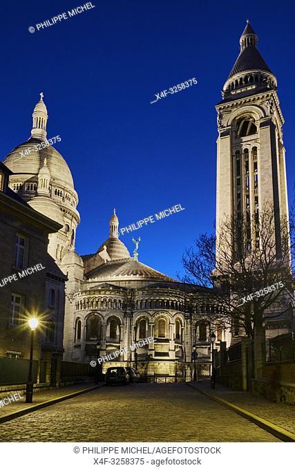 France, Paris, Montmartre, the Sacré Coeur Basilica