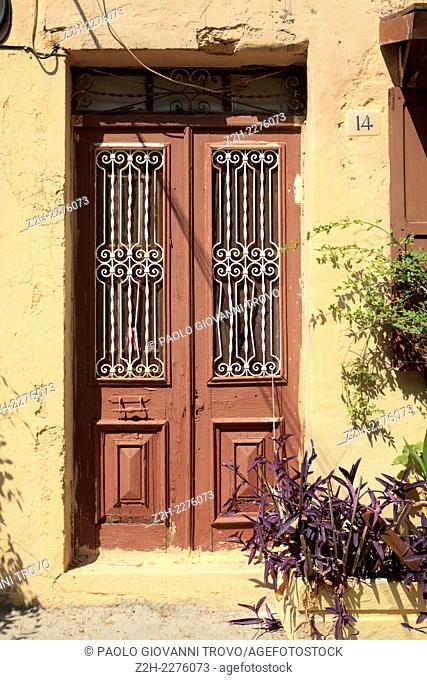 Old door, Rhodes, Dodecanese Islands, Greece