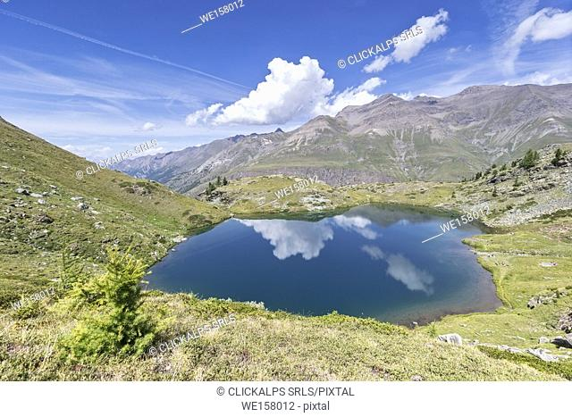 Lago delle Loie in National Park of Gran Paradiso, Cogne, Aosta Valley, Italy
