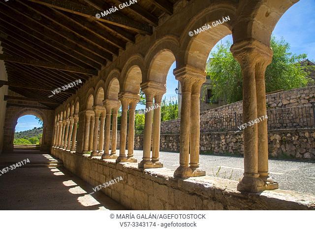 Atrium. San Salvador church, Carabias, Guadalajara province, Castilla La Mancha, Spain