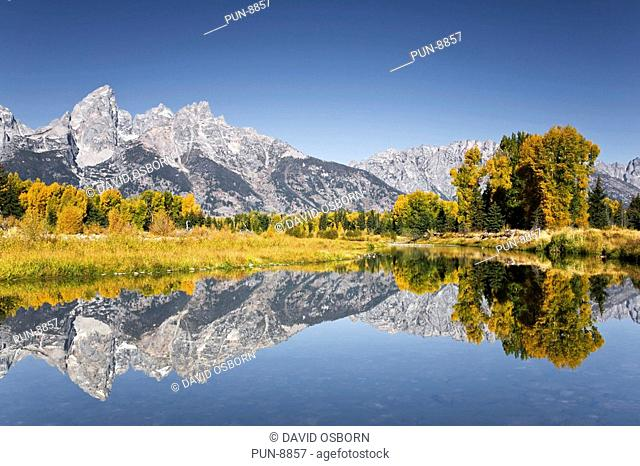 Schwabacher's landing in the Grand Teton National Park