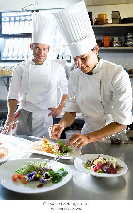 Prawn salad. Luis Irizar cooking school. Donostia, Gipuzkoa, Basque Country, Spain