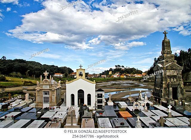 Niembro cemetery at low tide, Niembro, Llanes, Asturias, Spain